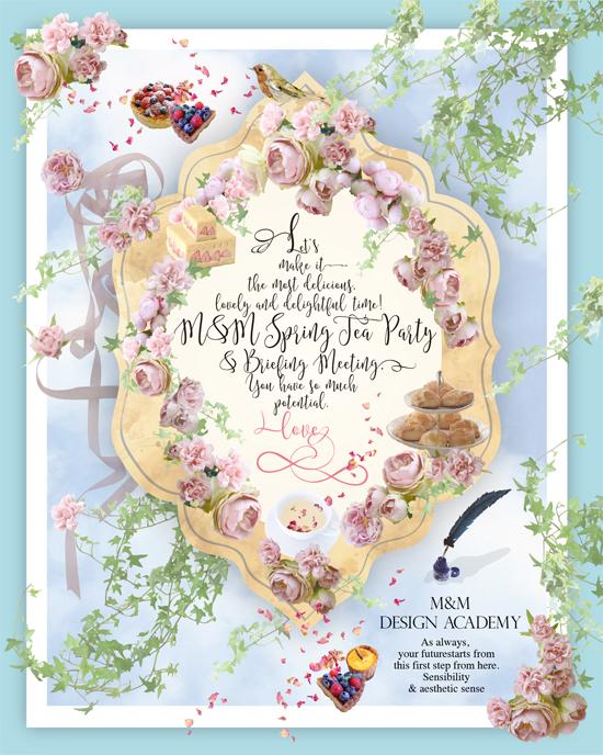 Horimari Creative works 春のお茶会&説明会DM 今年はおもいっきり美味しく、可愛く楽しく!